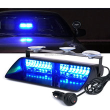 9 Inch 16 Watts Car Emergency Vehicle Lights Blue LED Police Dash Warning Strobe Flash Light
