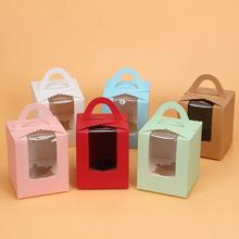 Disposable Dessert Paper Cupcake Box With Window