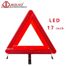 Auto LED Refective WarningTriangle Emergency Road Red Flasher Car LED Warning Triangle 17 inch