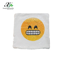 Two-tone funny changing face Emoji pillow cover