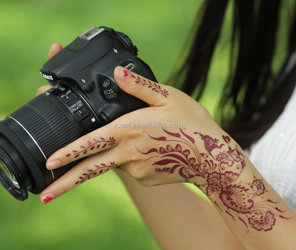 2015 new fashion golden designs tattoo metallic gold for Custom henna tattoo