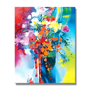 New 100% Hand painted Wall Decoration Modern Abstract Flower Oil Painting