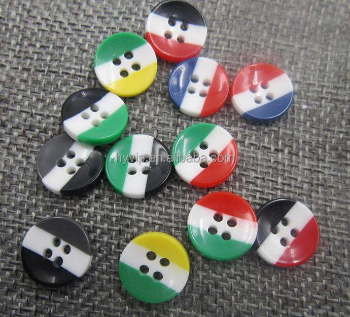 HYD Supply Resin Children 's Clothing Shirts Buttons Rainbow Buttons Three - Color Button