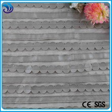 hot sale laser pu leather laser quilting embroidery on mesh fabric for fashion