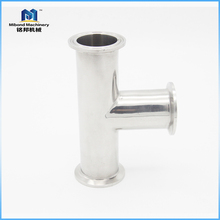 Reliable Supplier Sanitary Stainless Steel Food grade 3 way pipe connector