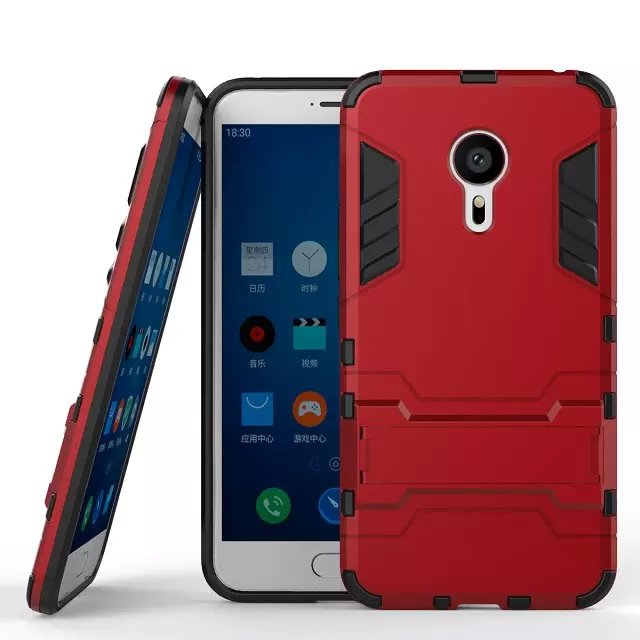 2 In 1 Hot Selling Iron-Bear Stand Rugged Hybrid Mobile Phone Cases For Meizu MX5 Pro