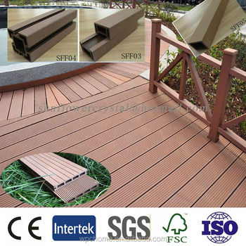 pool side wood plastic composite decking floor