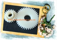 plastic double spur gear 1 Mod heel spur gear with 28teeth for cnc machine 10pcs a pack