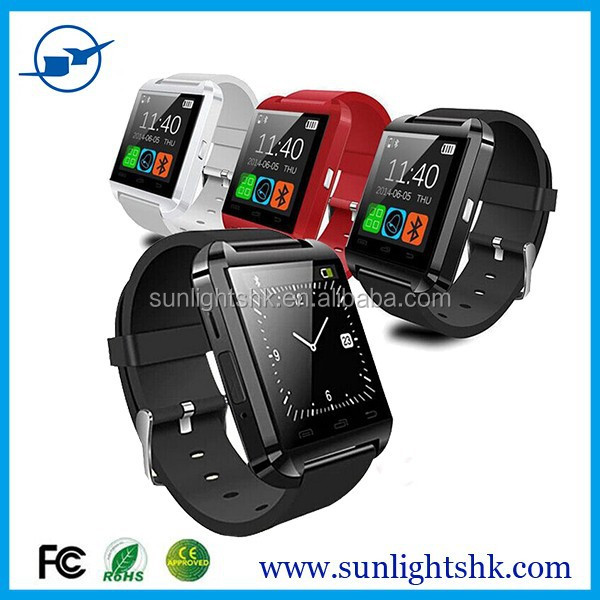 Factory Wholesale Cheap Smart Watch U8 Bluetooth Touch Screen China Smart Watch Phone Hot Sell 2015 Smart Watch Andriod