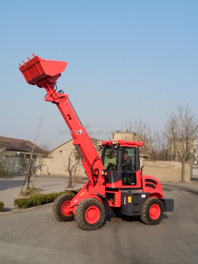 Chinese Famous Brand HONGYUAN New Farming agricultural equipment 4 wheels drive telescopic wheel loader TL15
