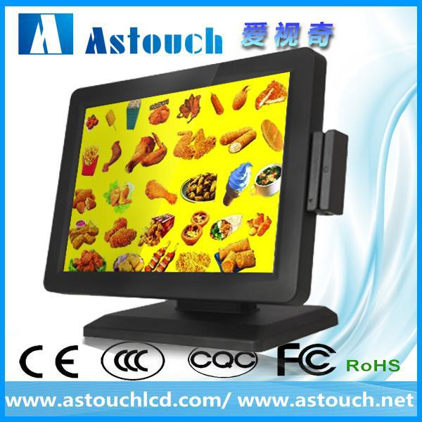 "lcd monitor wholesale black color 15"" lcd pos monitor with low price"