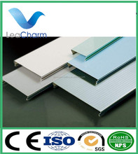Aluminum decoration material color coated strip false ceiling tiles linear suspended ceiling board