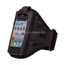 20 pcs/lot express shipping Premium Sports Gym Armband leather case for iPhone 4 4s black