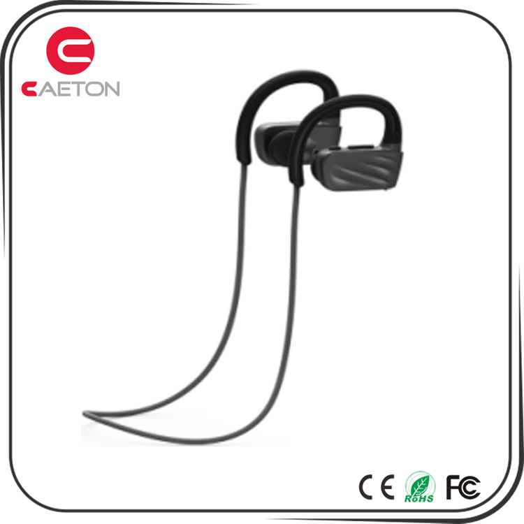 Custom logo IPX7 wireless waterproof bluetooth stereo headset noise cancelling headphones