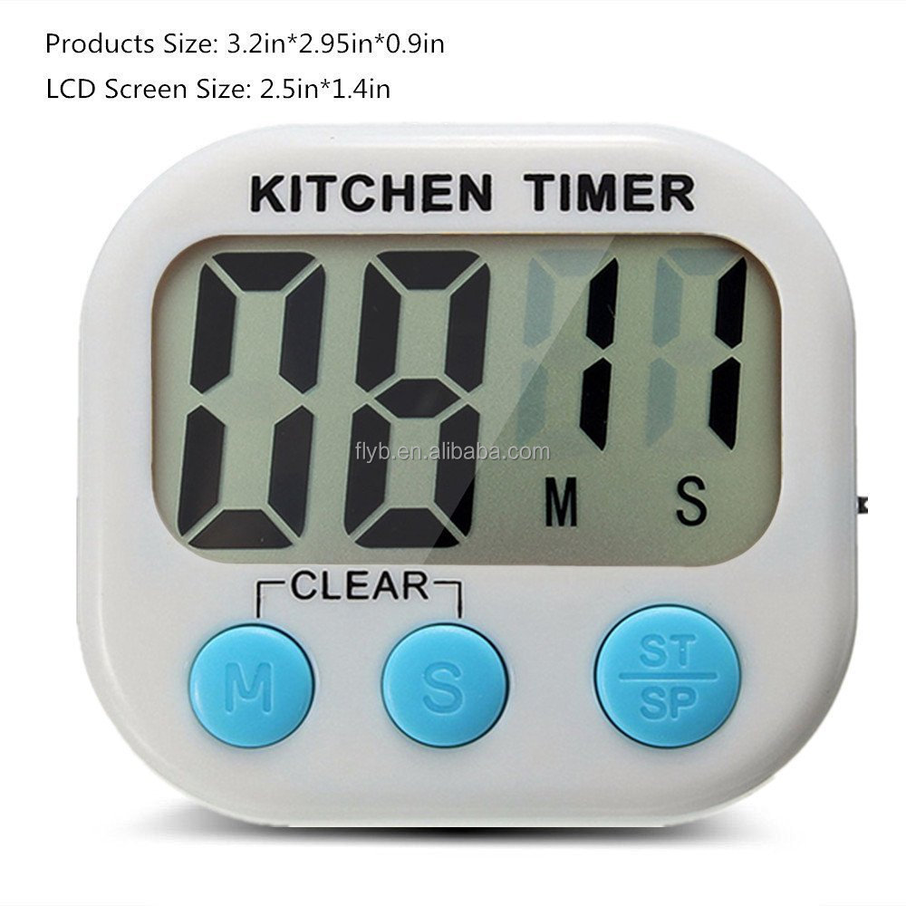 top rated daily using smart digital baking timer with memory and magnetic back foldable stand