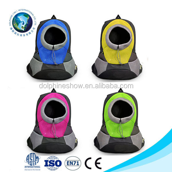 Portable Dog Outdoor Carrier Puppy Cat Neon Breathable Backpacks For Pet