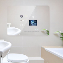 Android Bluetooth touch screen magic mirror with electronic <strong>advertising</strong> WiFi functions for smart home