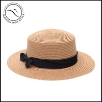 Summer Simple Natural Paper Boater Hat