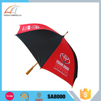 Buy wholesale from china red and black promotional market golf umbrella