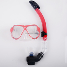 red dive mask and snorkel,silicone dive mask,dive equipment