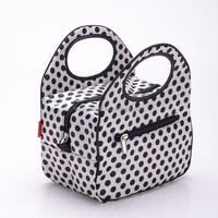 Cute and Lovely Vintage Dots Decoration Cooler Lunch Bag