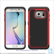 PC silione combo case cover plastic mobile phone shell for samsung galaxy s7 edge