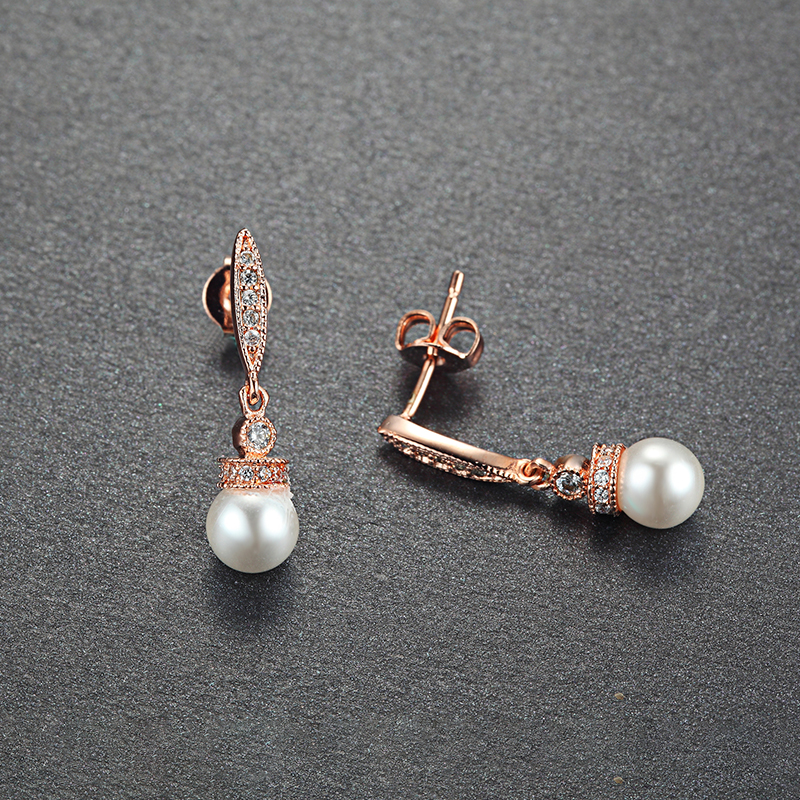 Fashion Jewelry Wholesale Pearl Wedding Earrings