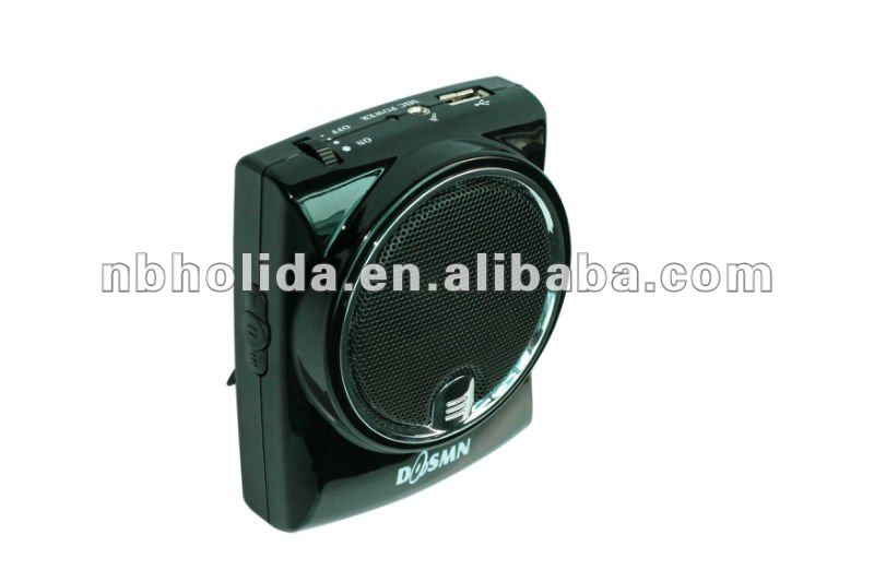 Waistband mini speaker rechargeable sound amplifier