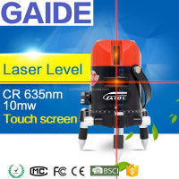 Touch screen 635nm 10mw crosshair laser level magnetic