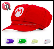 Wholesale Super Mario Luigi Brothers Fanny Custom Baseball Cap Newsboy Party Hat