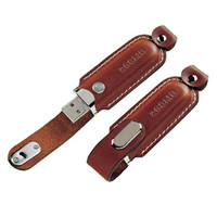 Luxurious High Quality Leather OEM Gifts USB Flash Drive for Promotion with Custom Logo Deboss Support