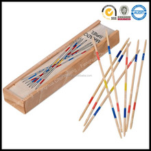 High quality 31 pcs custom classical promotional wooden sticks mikado education game set in wood box for kid pla