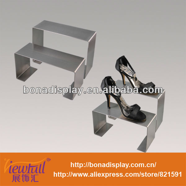 Optional size metal shoe stand rack for wholesale free standing shoe display