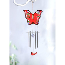 Ceramic butterfly shaped hanging decoration garden windbell
