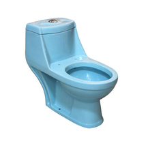 Fashionable Designs Home Bathroom Blue Colored Toilets