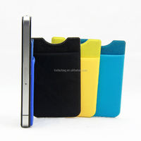 Microfiber Pouch Adhesive accessory pocket for all iPhones, iPod Touch, Galaxy S & Android smart phones