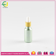 20ml light green spraying coating essential oil glass dropper bottle