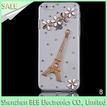 Effiel Tower Diamond Transparent Back Cover Case for iPhone 6