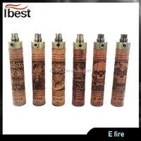 Ibest New Arrival ecig vaporizer wood battery kit e-fire refillable e cigarette efire wholesale price manufacturer direct sell