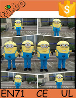 2015 hot sale adult minion mascot costume /child minion costume / minion mascot costume for advertising