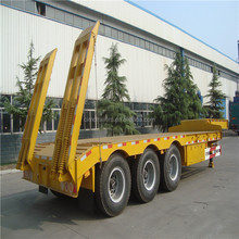 CIMC trailer manufacturer 100 ton low bed trailers truck trailer for mozambique