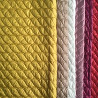Quilted polyester pongee jacket lining fabric China