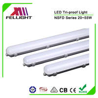 Interior 5ft 55W 50W Surface Mounted LED Ceiling Shower Light Remote