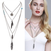 Songjon new design fashion jewelry display layer long necklace