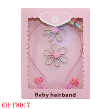 Fancy hair accessories set wholesale flower hair bands and clip for girls