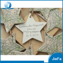 Star Shape World Map For Wood Hang Deco