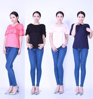 maternal clothing- sleeveless maternity t shirts -pregnant nursing tops for women
