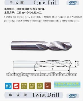 ZHY Long Shank Tungsten Carbide Twist Drill Bits