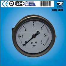 80mm back connection single scale 6 bar clamping force gauge