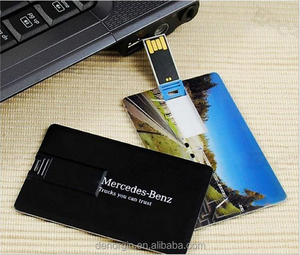 Free sample full color logo promotional gift USB Business Card credit card type 2GB 4GB 8GB 16GB 32GB